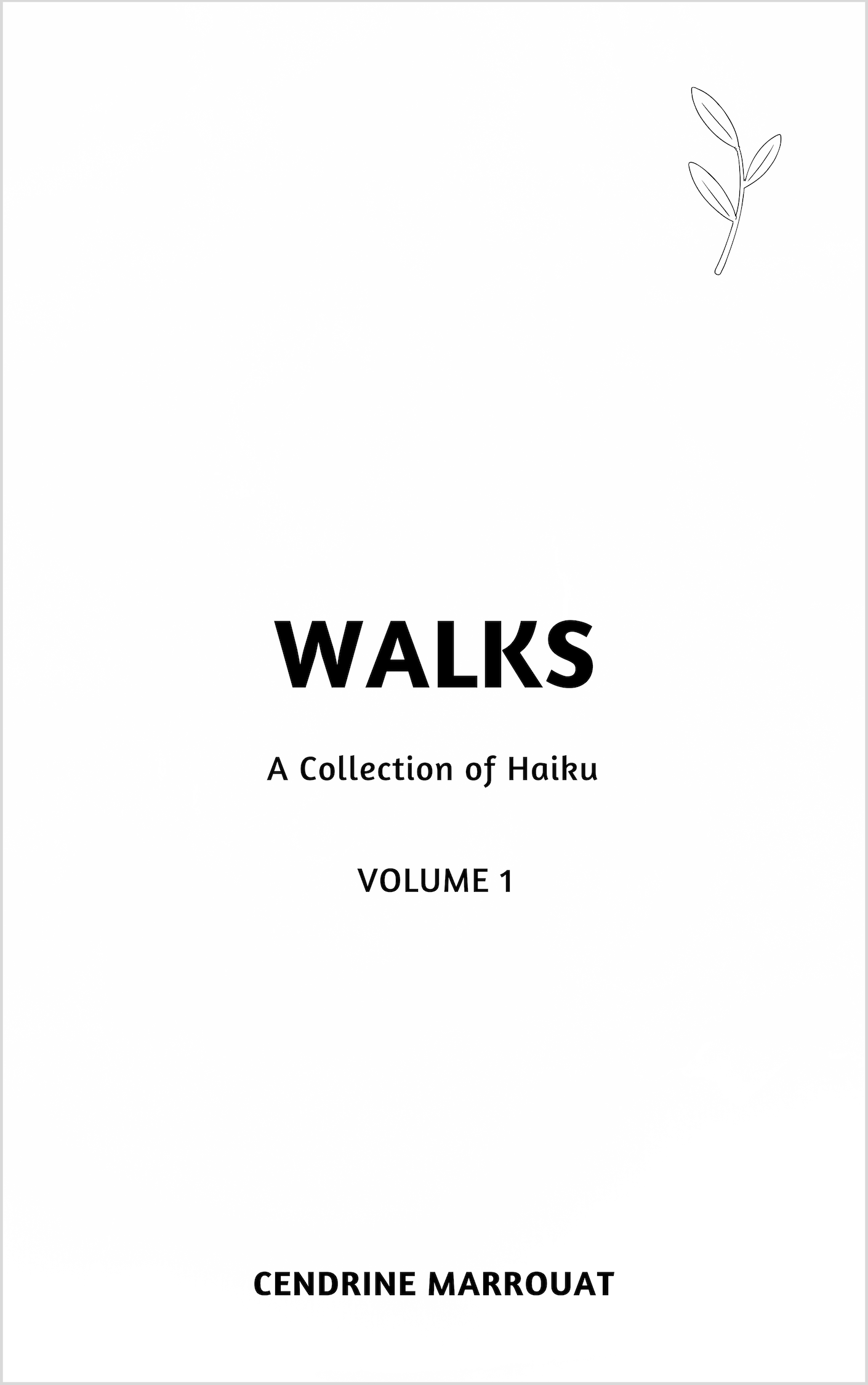 Walks: A Collection of Haiku (Volume 1)